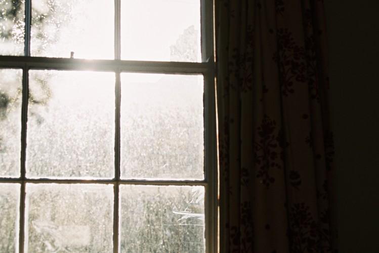 curtain window evening